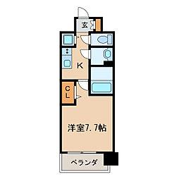 プレサンスジェネ栄[6階]の間取り
