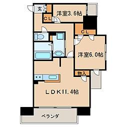 Kamiya Bldg 東桜[6階]の間取り