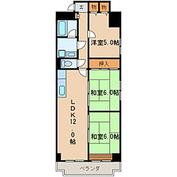 レジデンス泉[5階]の間取り