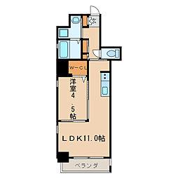 KCLASSYIZUMI[6階]の間取り