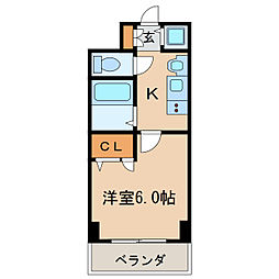 プレサンス泉アーバンゲート[9階]の間取り
