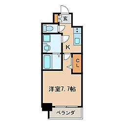 プレサンス桜通ザ・タイムズ[4階]の間取り