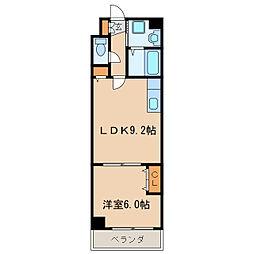 パレスT新栄[4階]の間取り