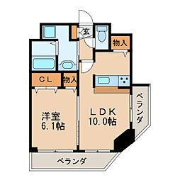 プレサンス名古屋城前[12階]の間取り