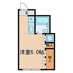 セザール新栄[3階]の間取り