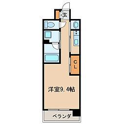 GRAND ESPOIR IZUMI 3階1Kの間取り