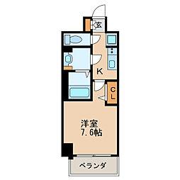 プレサンス新栄リベラ 2階1Kの間取り