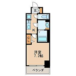 プレサンス新栄リベラ 15階1Kの間取り