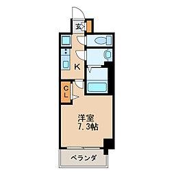 プレサンス新栄リベラ 11階1Kの間取り