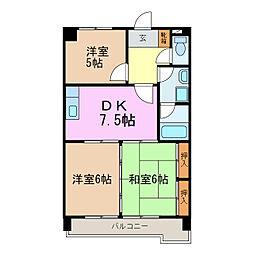 シャトーマキ[3階]の間取り