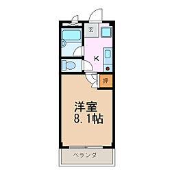 ウッドベルハイツ[1階]の間取り