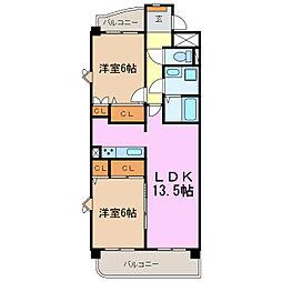 シークハイム[2階]の間取り