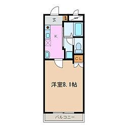 愛知県名古屋市天白区中平2丁目の賃貸マンションの間取り