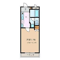 サリーレ中平[3階]の間取り