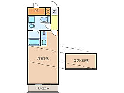UMEX-9[1階]の間取り