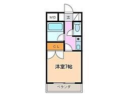 グランメールKAZU[4階]の間取り