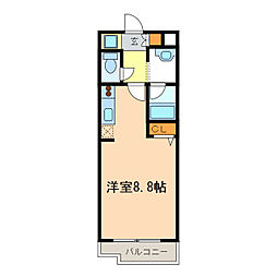 アーバンポイント豊田[9階]の間取り