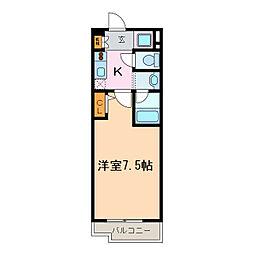 アーバンポイント豊田[15階]の間取り