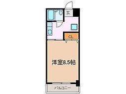 愛知県長久手市戸田谷の賃貸マンションの間取り