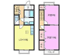 [テラスハウス] 三重県亀山市亀田町 の賃貸【/】の間取り
