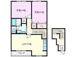 ランドマーク2002 II[2階]の間取り