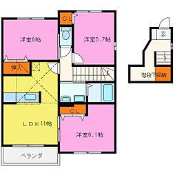 オーキッド富士見ケ丘[2階]の間取り