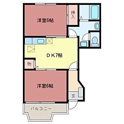 ルイメゾン B[1階]の間取り