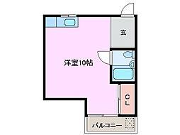 三重県鈴鹿市岡田2丁目の賃貸アパートの間取り