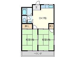 三重県鈴鹿市三日市3丁目の賃貸アパートの間取り