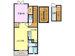 三重県鈴鹿市西条8の賃貸アパートの間取り