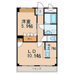 コンフォース21[2階]の間取り