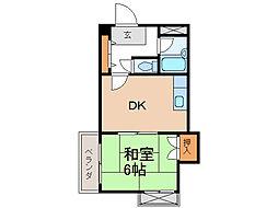 グランメール畑屋敷[2階]の間取り