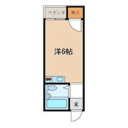 ローズレジデンス[1階]の間取り