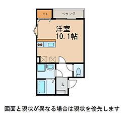 クラウンハイツ鳴神II[1階]の間取り
