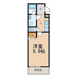 和歌山県和歌山市東長町5丁目の賃貸アパートの間取り
