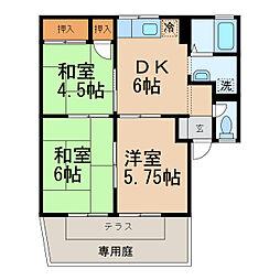 サンパティーク松本[1階]の間取り