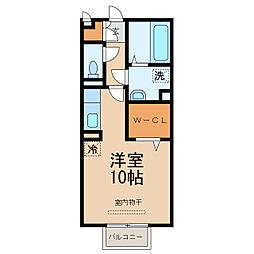 グリーンクレストB棟[2階]の間取り