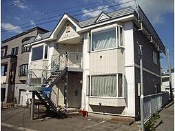 北海道函館市昭和1丁目の賃貸アパートの外観