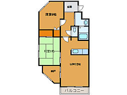 北海道函館市富岡町1丁目の賃貸マンションの間取り