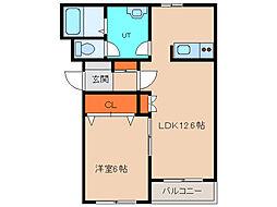 北海道函館市中道2丁目の賃貸マンションの間取り