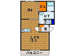北海道函館市亀田本町の賃貸マンションの間取り