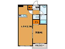 北海道函館市日吉町4丁目の賃貸アパートの間取り