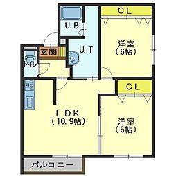 北海道函館市本通1丁目の賃貸マンションの間取り