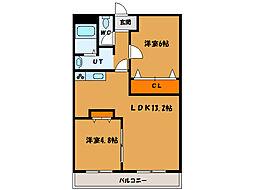 北海道函館市桔梗4丁目の賃貸マンションの間取り