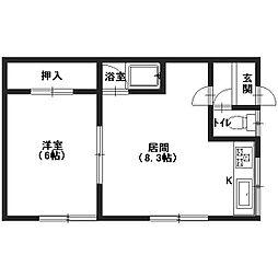エッセ_丸山アパート[201号室]の間取り