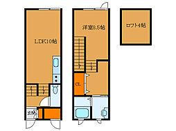北海道函館市本通4丁目の賃貸アパートの間取り