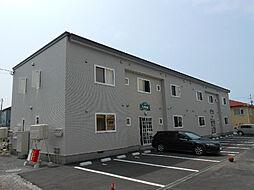 北海道函館市東山1丁目の賃貸アパートの外観