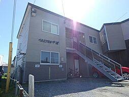 北海道函館市中道2丁目の賃貸アパートの外観