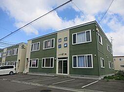 北海道函館市桔梗5丁目の賃貸アパートの外観