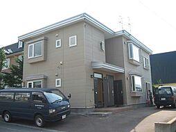 北海道亀田郡七飯町字本町の賃貸アパートの外観